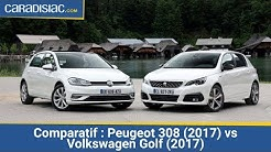 Comparatif - Peugeot 308 (2017) vs Volkswagen Golf (2017) : duel de championnes