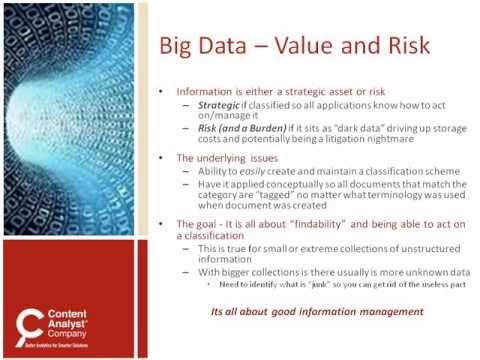 Seven Ways Text Analytics Tame Big Data -- SIIA Webinar