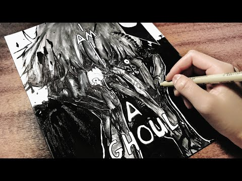 Drawing Kaneki Ken: I am a Ghoul [Manga page #3]