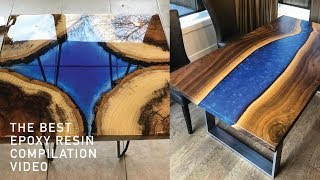 5 AMAZING EPOXY RESIN RIVER TABLE | DIY WOODWORKING PROJECT COMPILATION