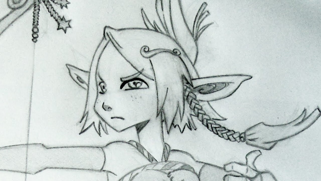 Drawing Evangelyne (Anime character from Wakfu) - YouTube