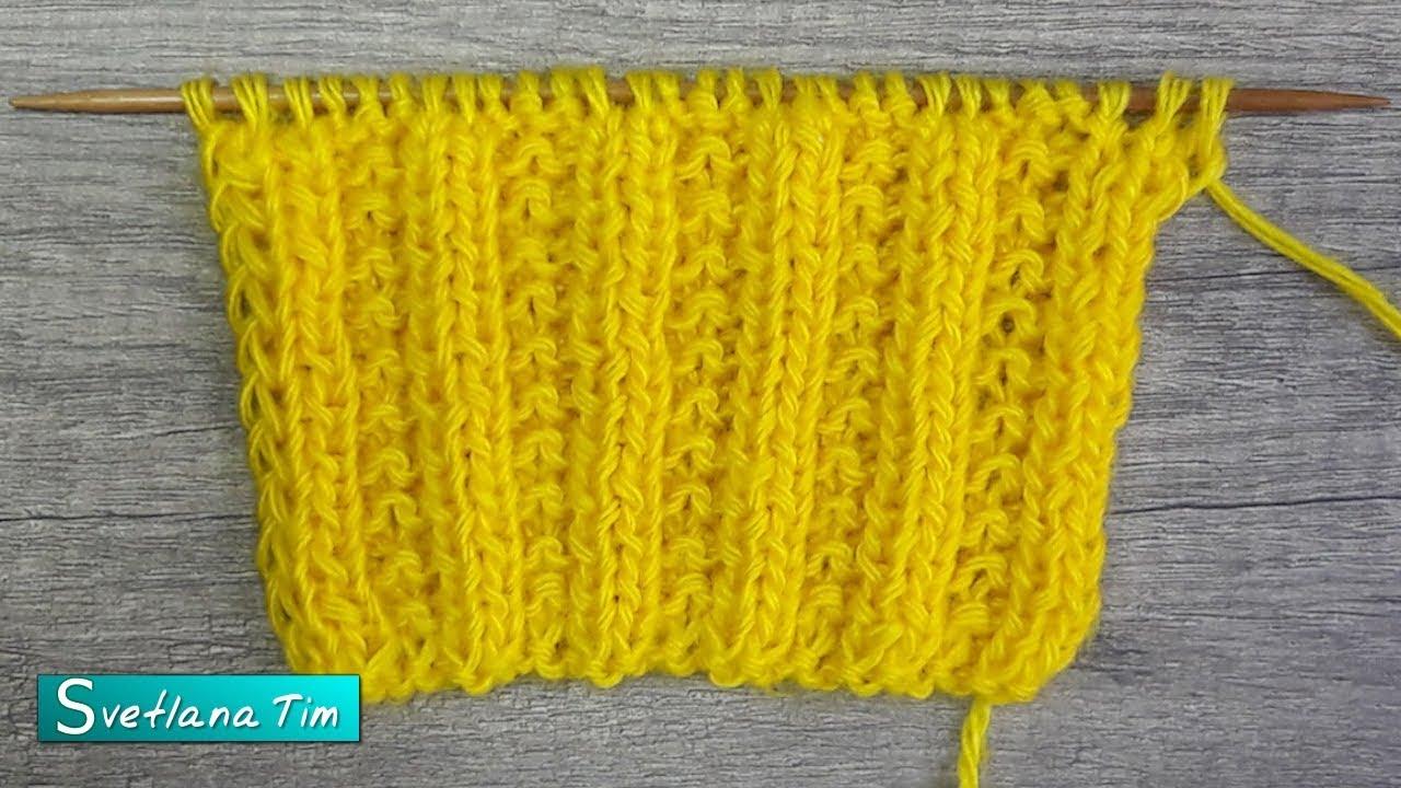 узор бисерная резинка вязание спицами для начинающих 594 Youtube