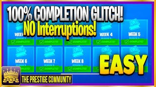 ✅ Complete EVERY CHALLENGE With This SUPER EASY GLITCH *NO Interruptions* (Fortnite Season 9 Glitch)