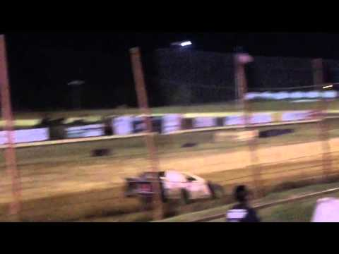 Kyle Goforth modified heat race Oklahoma Sports Park 9/25/15
