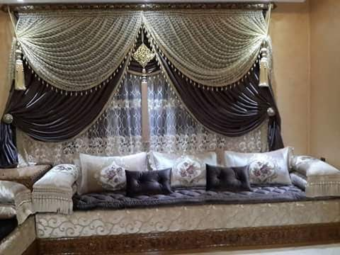 Agreable Rideaux Marocains|جديد ستائر الصالونات المغربية