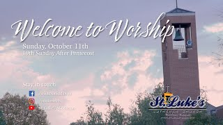 Sunday Worship – October 11th, 2020