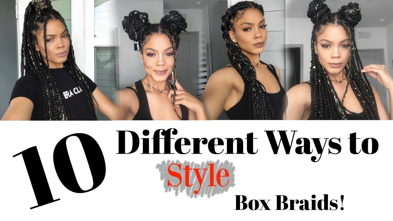 10 Ways To Style Box Braids Quick Easy Trendy Youtube