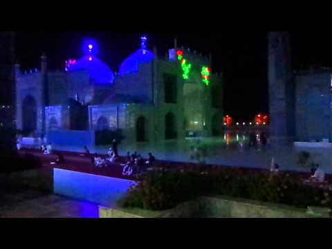 Shrine of Hazrat Ali, Blue Mosque by night, Afghanistan - part 1