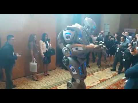 BII Summit Robot Talking about Blockchain Technology