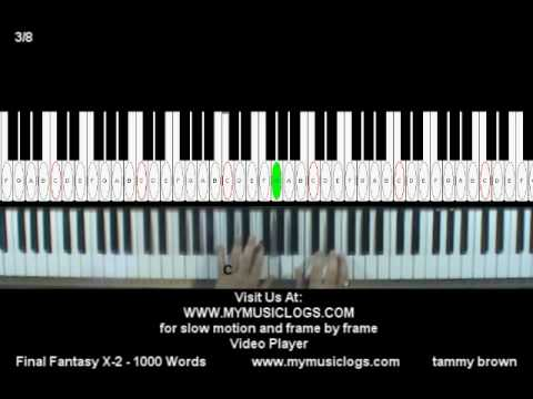How to Play Final Fantasy X2  1000 Words  Piano  Tutorial