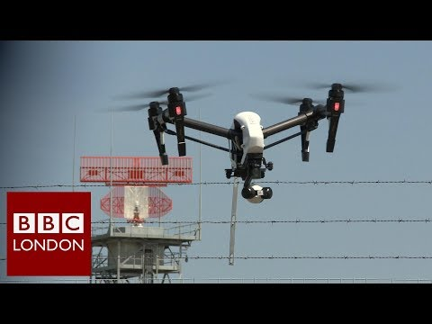 Anti-drone system at Southend Airport - BBC London News