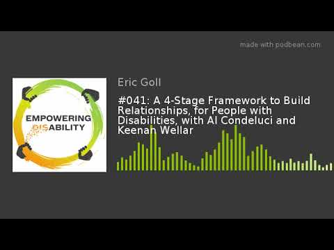 #041: A 4-Stage Framework to Build Relationships, for People with Disabilities, with Al Condeluci an