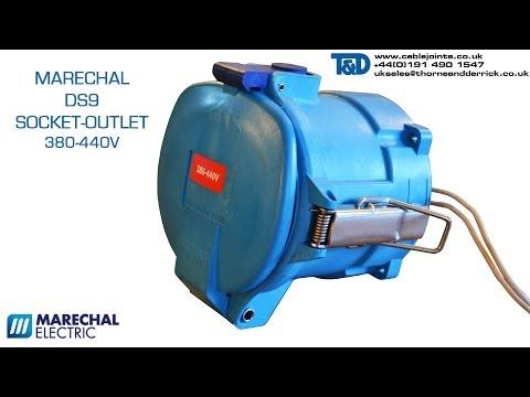 Marechal DS9 Socket Outlet 380-440V- Marechal DS Industry Decontactor GRP 150A IP66/67