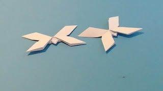 Оригами бабочка мотылек. Пошаговый видео-урок как сделать оригами бабочку мотылек.