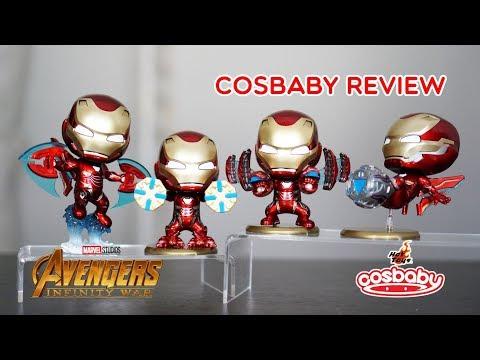 Iron Man Nano Blade, Flight Thruster, Nano Cannon, Power Mallet Ver. Cosbaby Hottoys