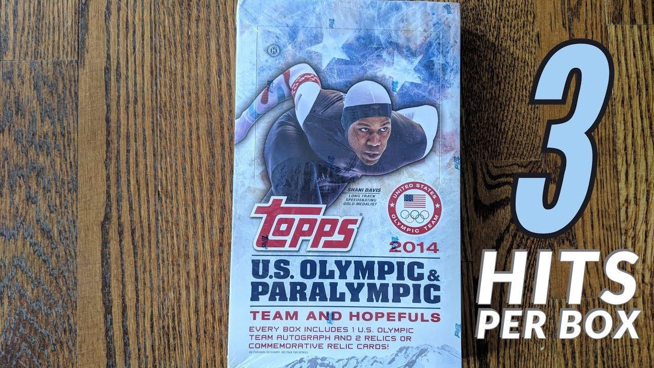 2014 Topps U.S. Olympic & Paralympic Team And Hopefuls Hobby Box Break