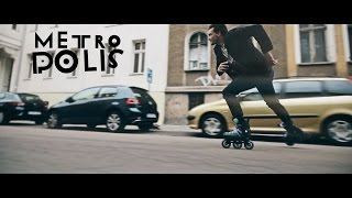 Freeskating in Halle - Powerslide Metropolis Supercruiser 110 Urban inline skates - 908183