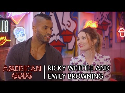 Behind the s with Ricky Whittle and Emily Browning  American Gods