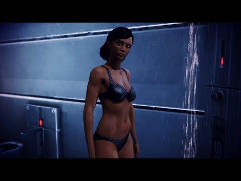 Ebony female lingerie model