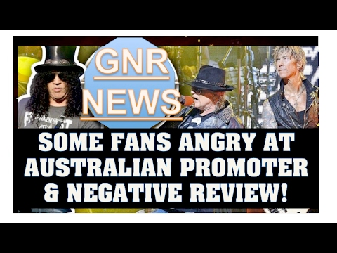 Guns N' Roses News: Some Australian Fans Complain About Sydney Concerts & More!