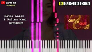 Major Lazer amp Paloma Mami   QueLoQue   Piano TUTORIAL  Como tocar QueloQue de Paloma Mami