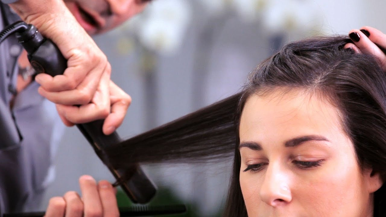 how to curl long hair with a flat iron long hairstyles youtube