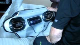 Tsukayu fairing w pioneer stereo 6x9 marine speakers