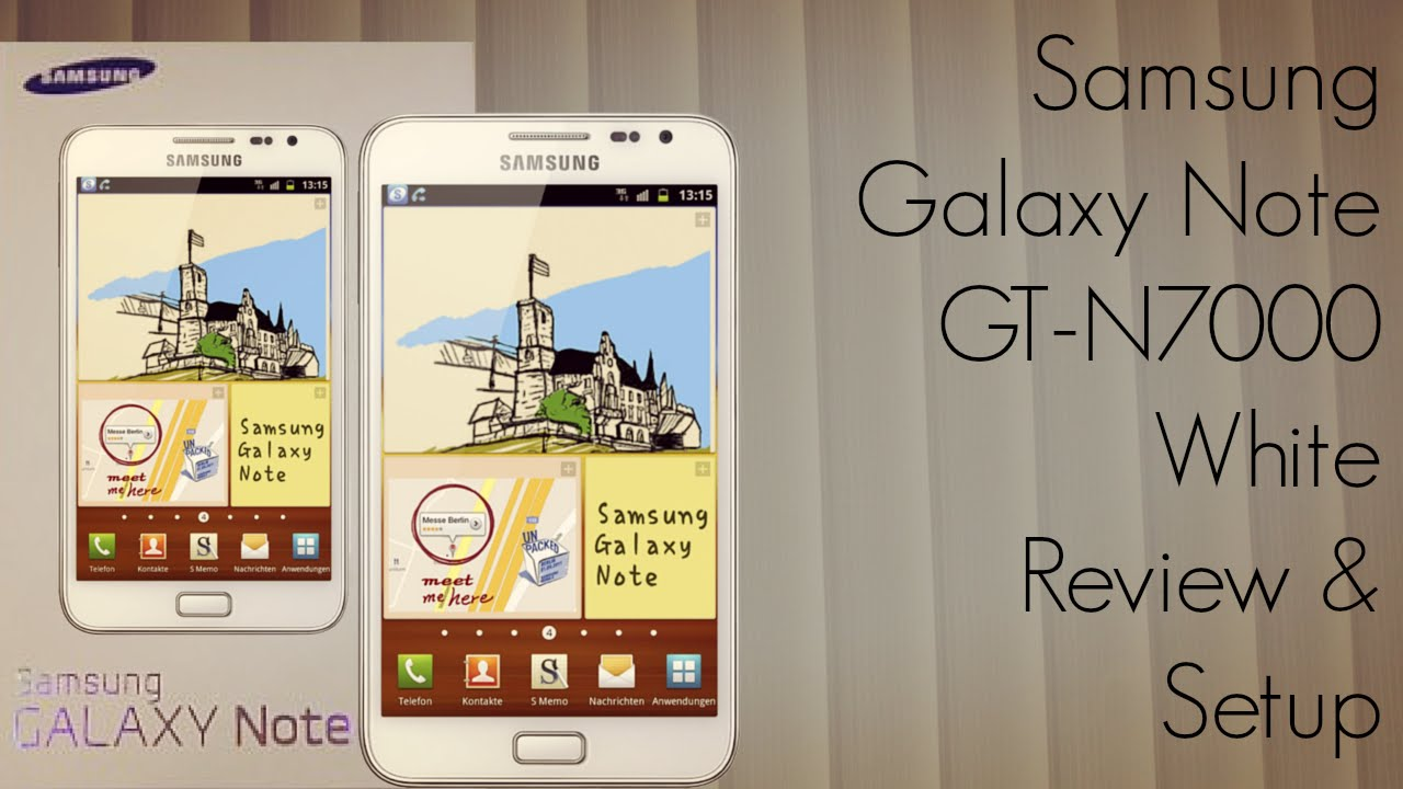 Ongekend Samsung Galaxy Note GT-N7000 White Review & Setup - PhoneRadar LK-95