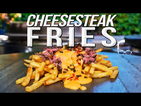 THE BEST (SPICY) CHEESESTEAK FRIES | SAM THE COOKING GUY 4K
