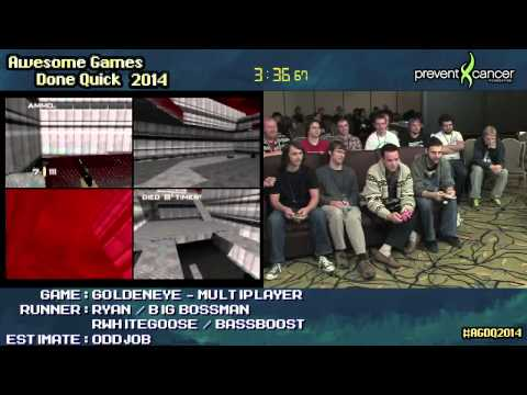 GoldenEye 007 :: 4-player Multiplayer [N64] #AGDQ 2014
