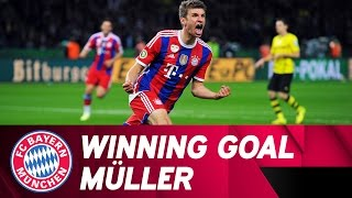 123rd Minute - Müller Decides DFB Cup Final against BVB | 2013/14 DFB Cup