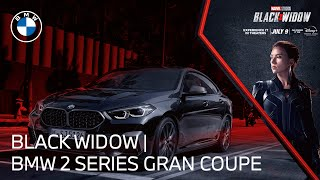homepage tile video photo for The BMW 2 Series Gran Coupe meets Marvel Studios' Black Widow   BMW USA