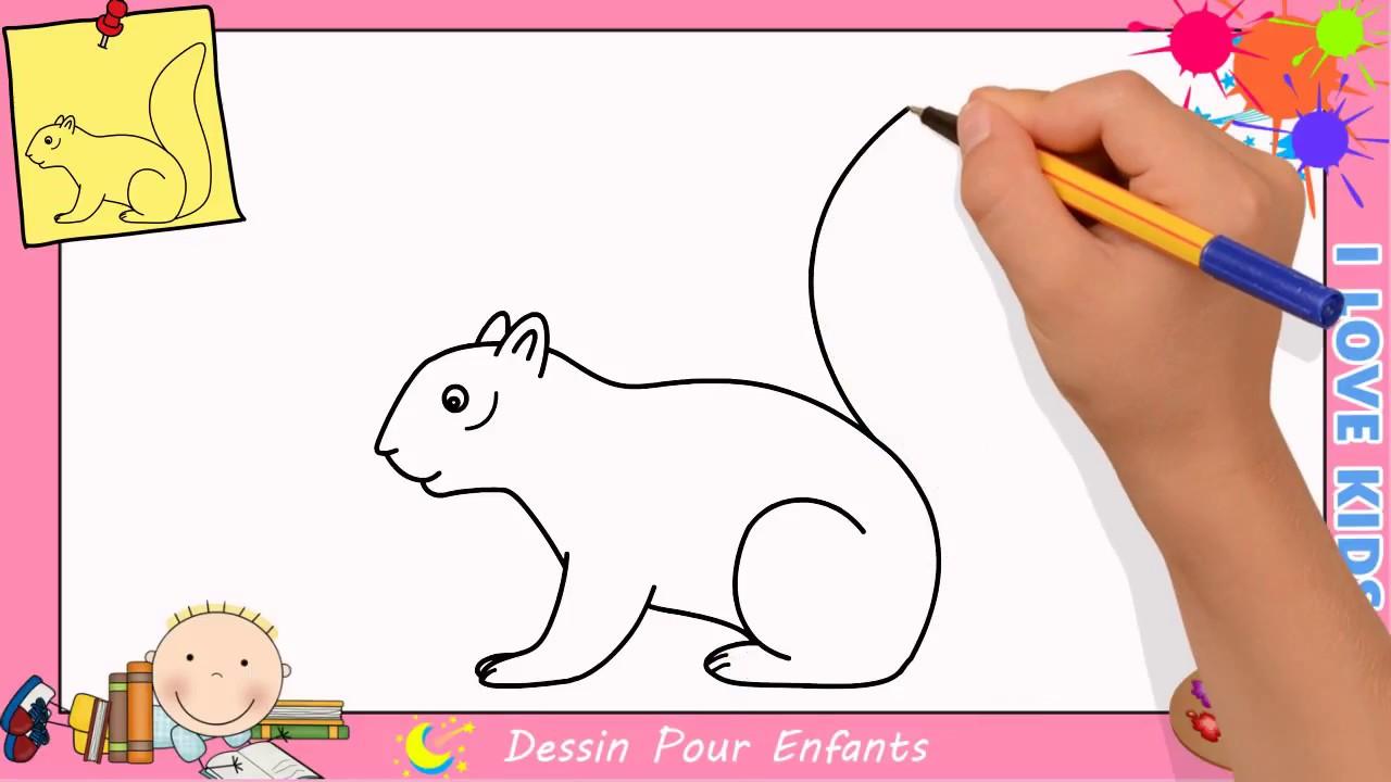 Comment dessiner un cureuil facilement etape par etape - Ecureuil a dessiner ...