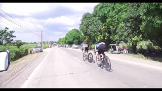 A classic cycling sprint finish in the Philippines