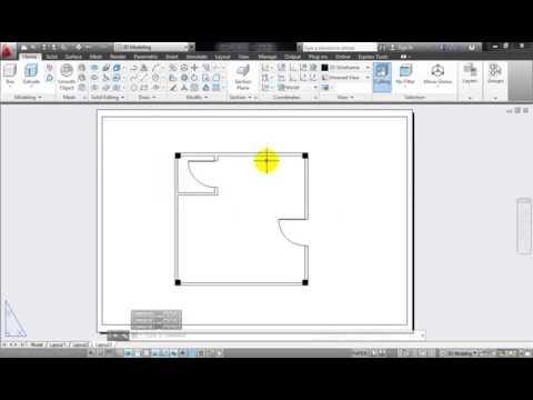 Hướng dẫn vẽ mặt bằng một căn phòng đơn giản bằng AutoCAD