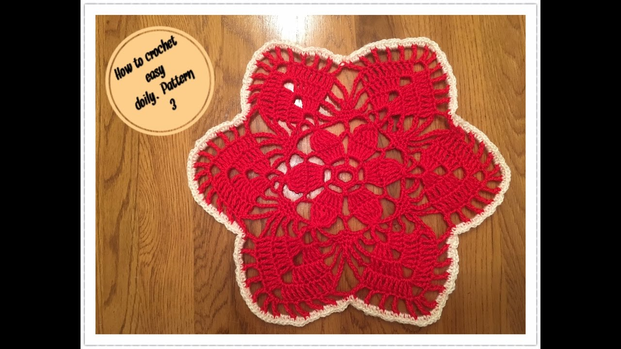 How to crochet easy doily pattern 3 youtube how to crochet easy doily pattern 3 bankloansurffo Gallery