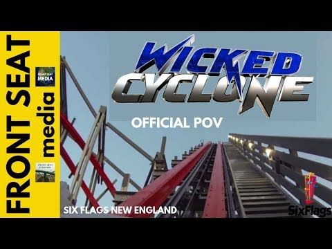 Wicked Cyclone REAL Full POV HD On-Ride Six Flags New England Rocky Mountain Roller Coaster RMC