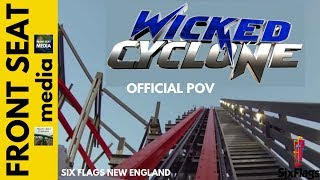 wicked cyclone real full pov hd on ride six flags new england rocky mountain roller coaster rmc