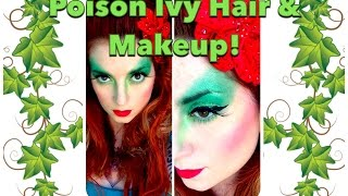 Poison Ivy Halloween Hair and Makeup Tutorial by CHERRY DOLLFACE Thumbnail