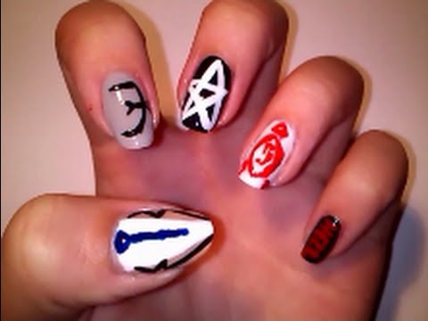 Supernatural inspired nail art youtube prinsesfo Image collections