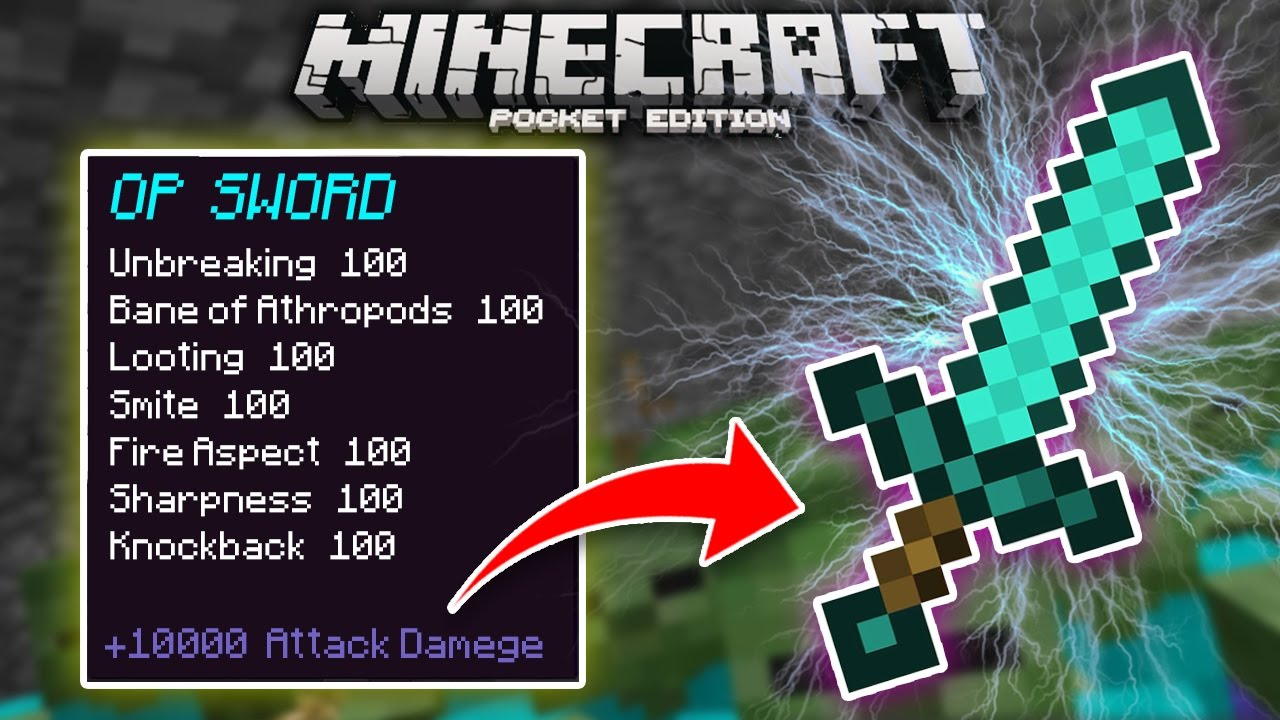 How to get OP ENCHANTMENTS in Minecraft PE 9.9.9!! (Command Block Creation)