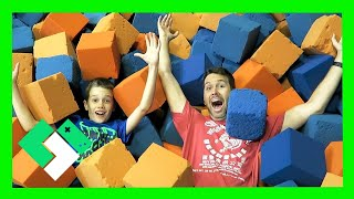 BOYS JUMPING AT SKY ZONE (Day 1559)