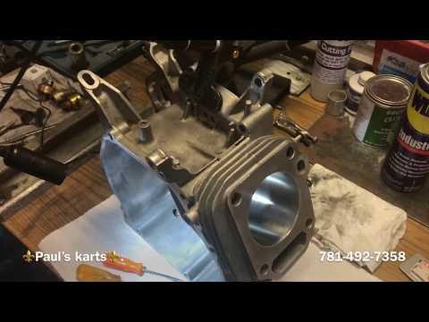 HONDA GX270 Engine build ( block prep ) milled deck // part #7