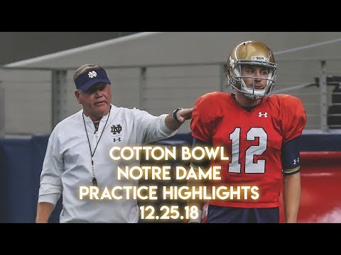 Cotton Bowl | Notre Dame Practice Highlights 12.25