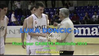 Exhibición de Luka DONCIC (99) Real Madrid en la Final Four Cadete 2014 (BasketCantera.tv)