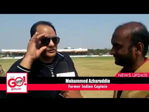 Mohammed azharuddin in Gulbarga LIVE interview on gohash   KBNPL Finals   Taher Abbbas