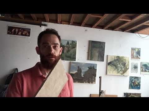 how to make a linen on board surface #2