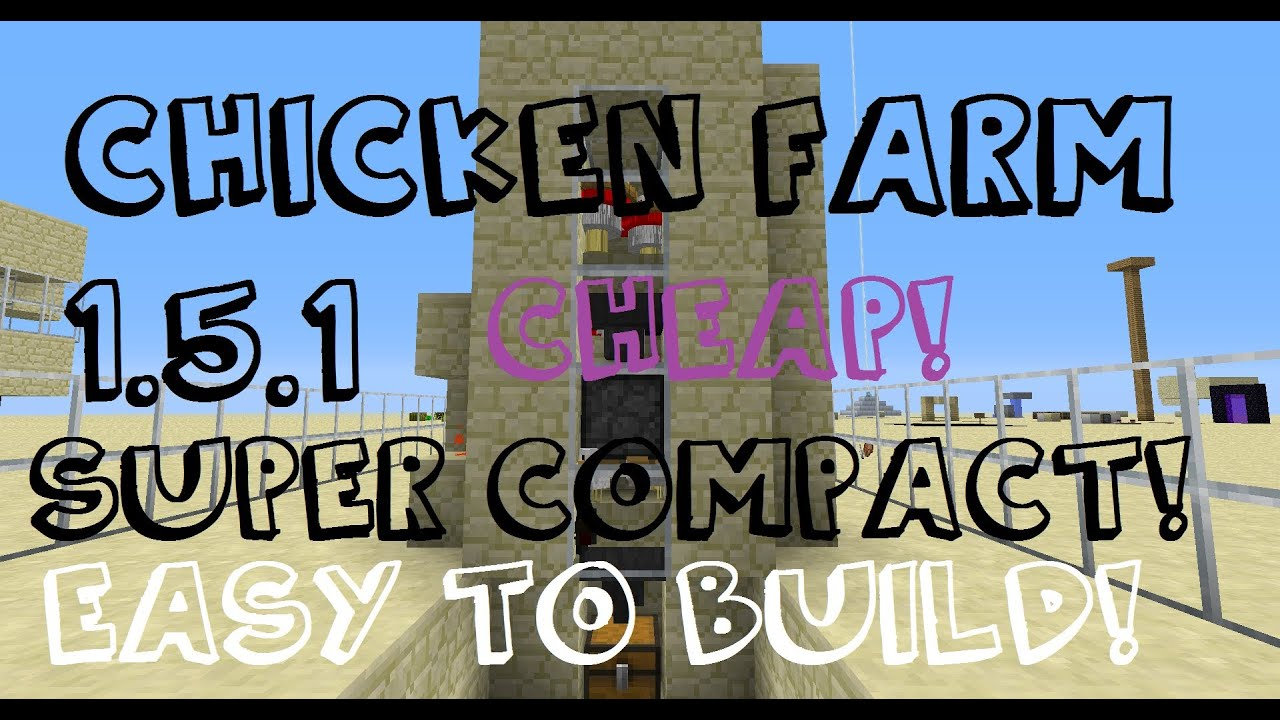 minecraft how to make an automatic chicken farm