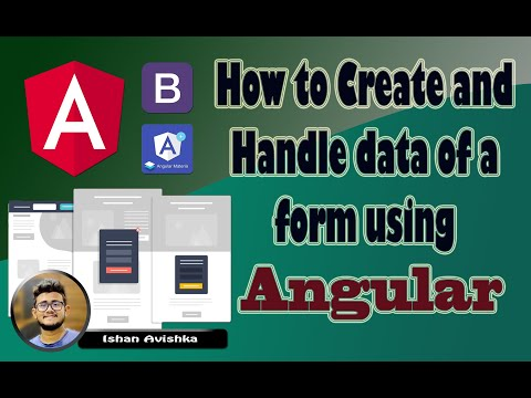How To Create And Handle Data Of A Form Using Angular (සිංහලෙන්)