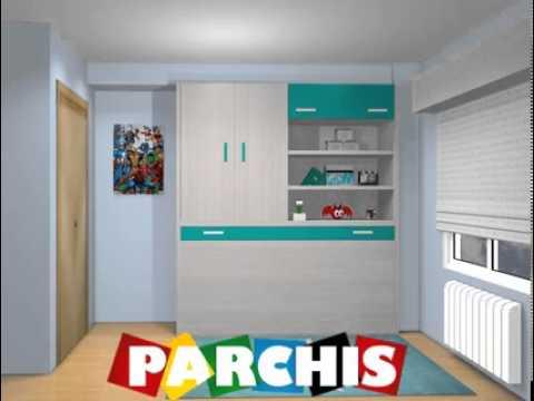 Ideas dormitorios con camas abatibles habitaciones con - Habitaciones camas abatibles ...